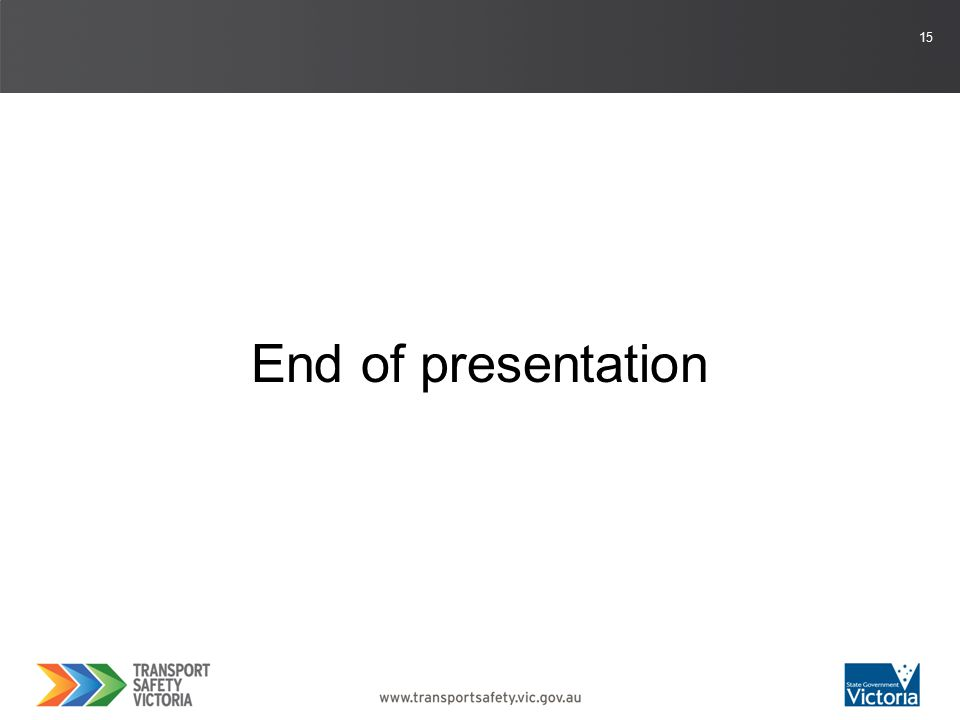 15 End of presentation