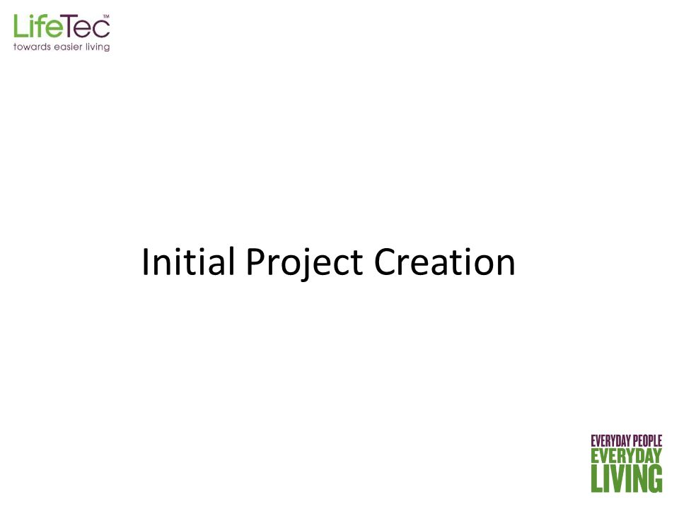 Initial Project Creation