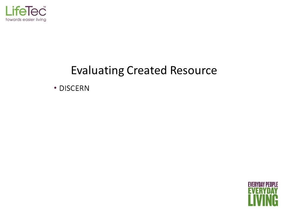 DISCERN Evaluating Created Resource