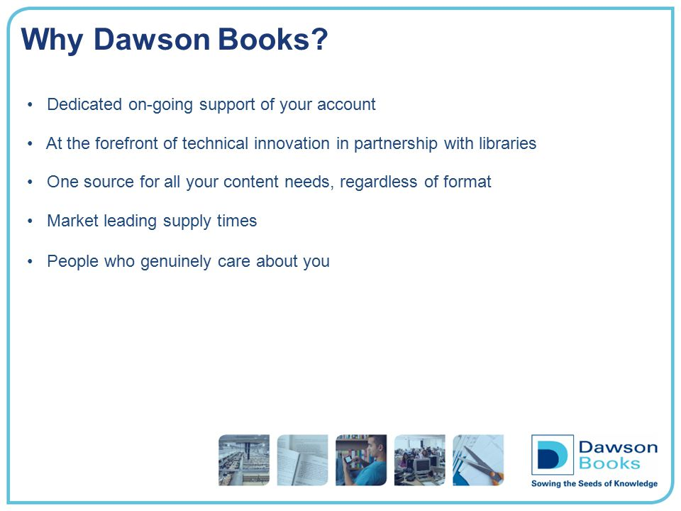 Why dawsonera.More than 240,000 ebooks… and growing.
