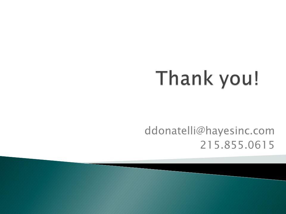 ddonatelli@hayesinc.com 215.855.0615