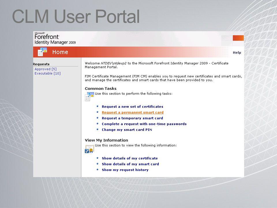 CLM User Portal