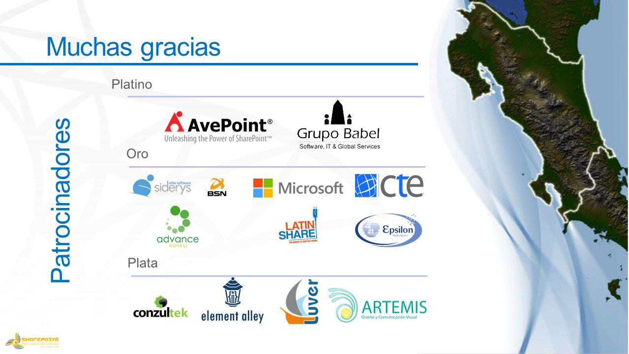 Patrocinadores Muchas gracias