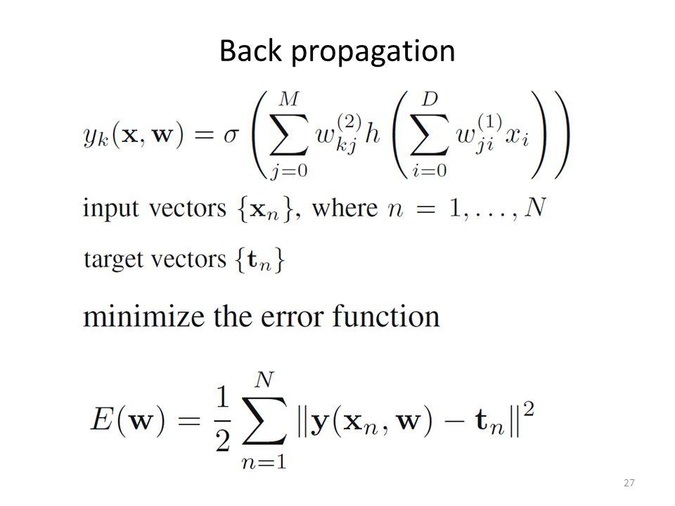 Back propagation 27