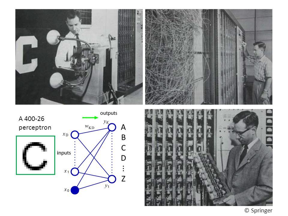 Perceptron 4 A 400-26 perceptron © Springer