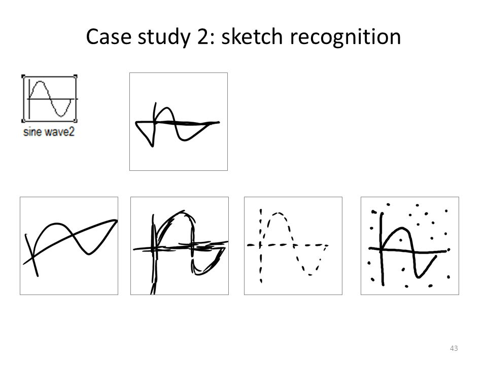 Case study 2: sketch recognition 43