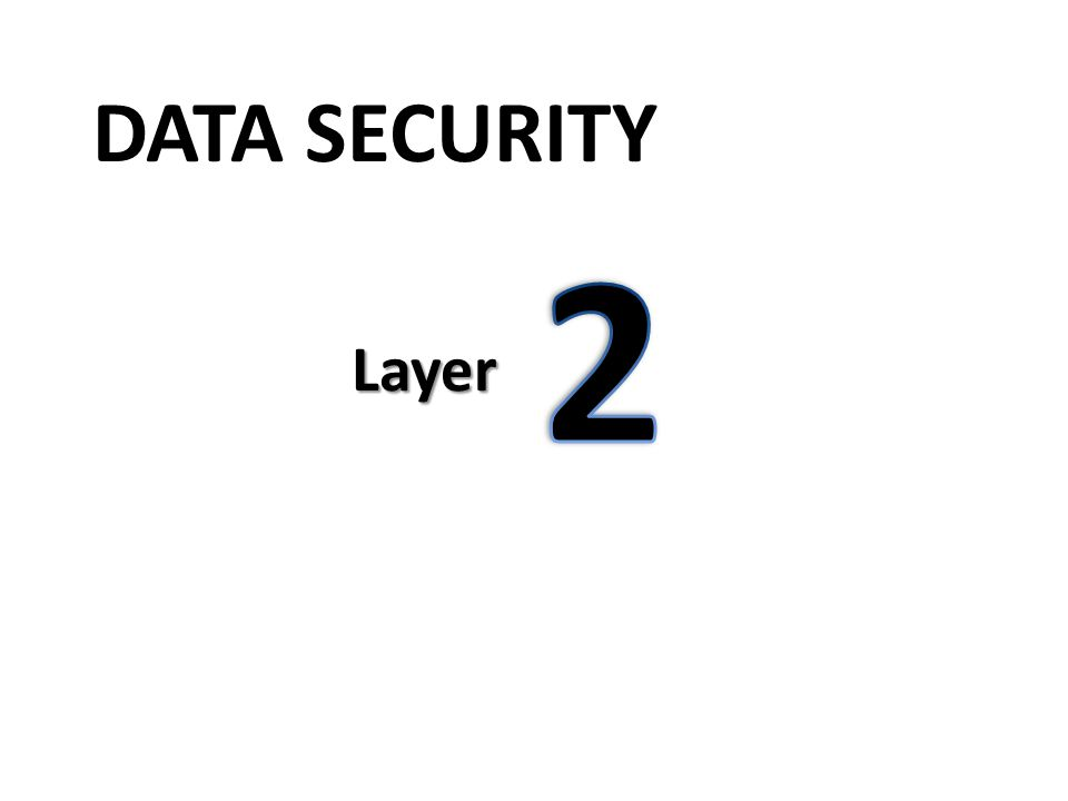 DATA SECURITY Layer