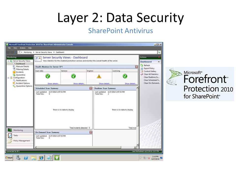Layer 2: Data Security SharePoint Antivirus