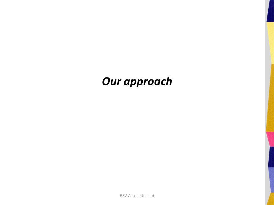 Our approach BSV Associates Ltd