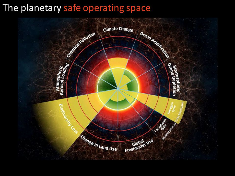 The planetary safe operating space