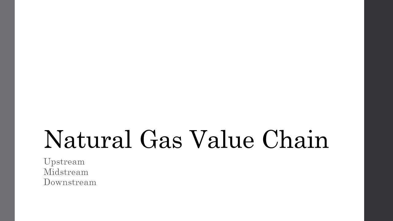 Natural Gas Value Chain Upstream Midstream Downstream