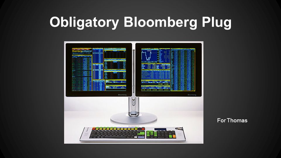 Obligatory Bloomberg Plug For Thomas