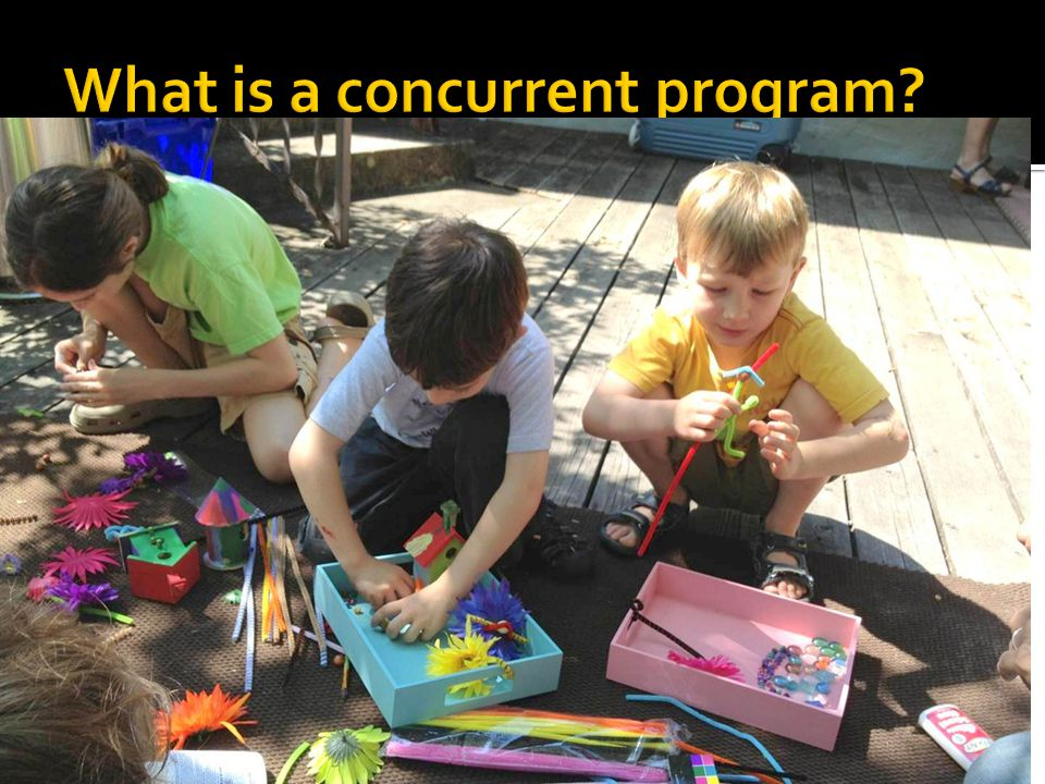  A concurrent program is different computations occurring simultaneously that share resources  What is a parallel program.