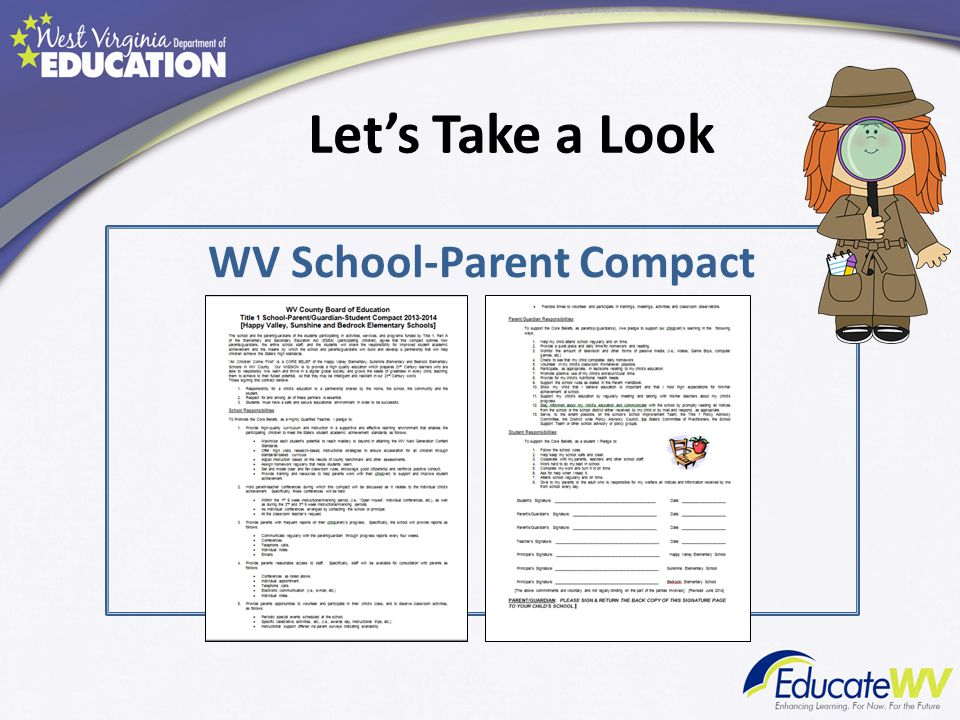 Let's Take a Look WV School-Parent Compact