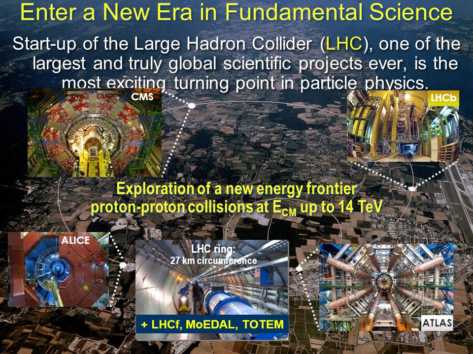 United Kingdom and CERN / May 2009 18 Enter a New Era in Fundamental Science Start-up of the Large Hadron Collider (LHC), one of the largest and truly global scientific projects ever, is the most exciting turning point in particle physics.