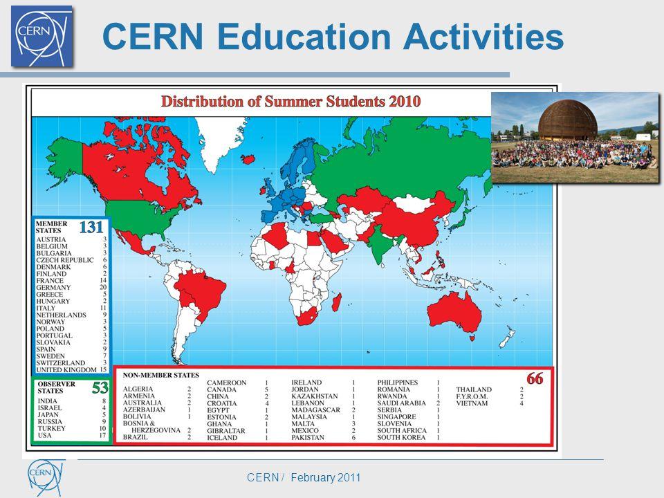 CERN / February 2011 CERN Education Activities