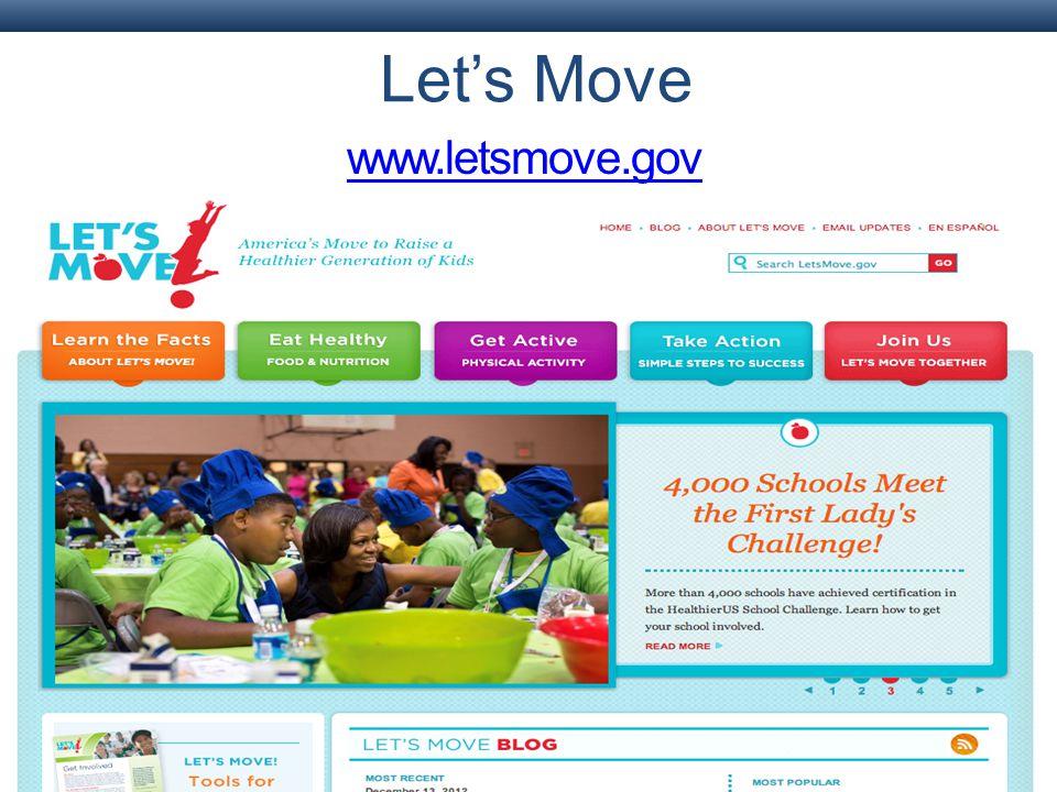 Let's Move www.letsmove.gov