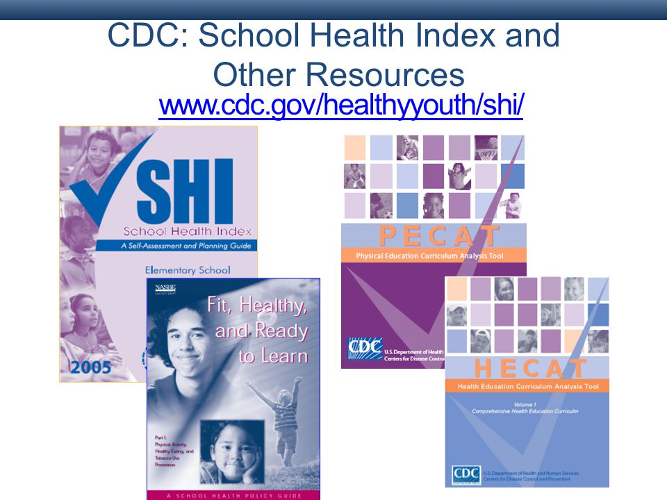 CDC: School Health Index and Other Resources www.cdc.gov/healthyyouth/shi/