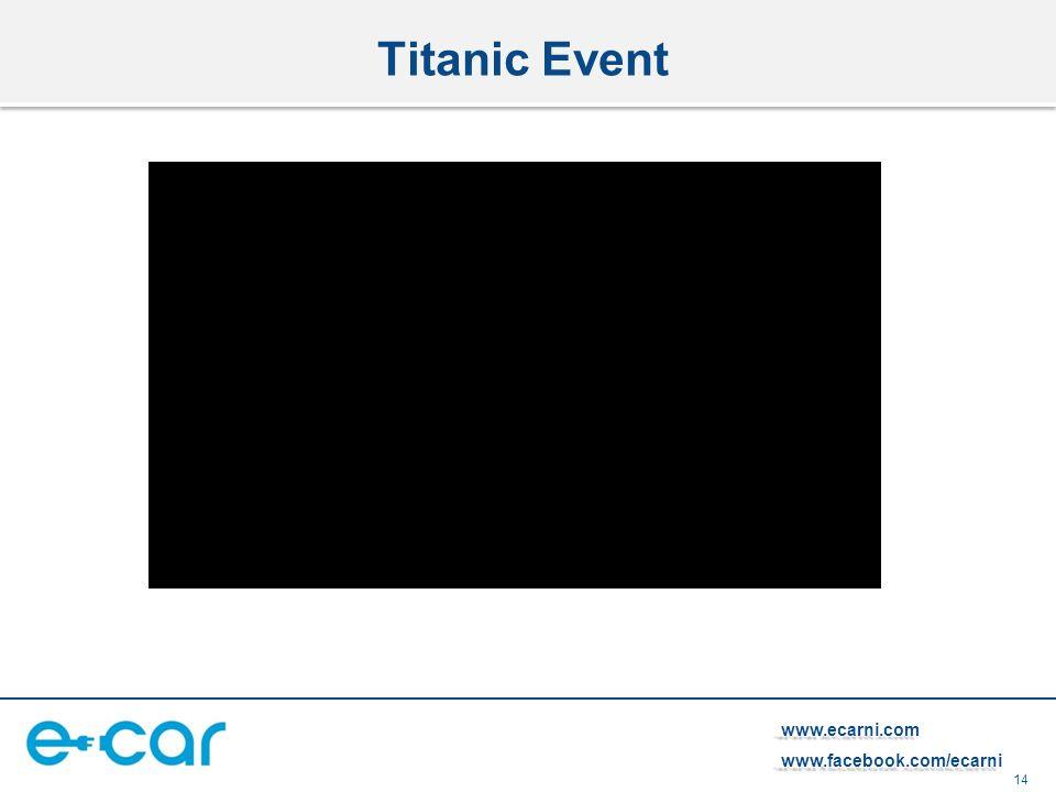 14 www.ecarni.comwww.facebook.com/ecarni Titanic Event