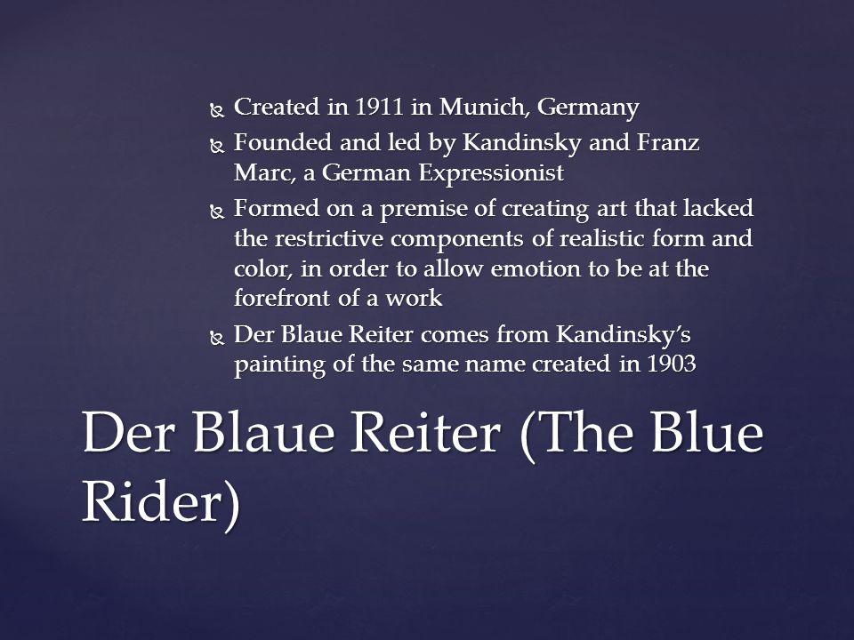 Wassily Kandinsky – Der Blaue Reiter 1903 Oil on Canvas 60 cm