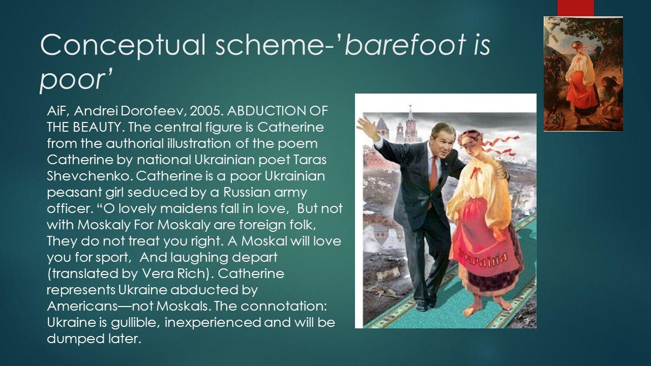 Conceptual scheme-'barefoot is poor' AiF, Andrei Dorofeev, 2005.