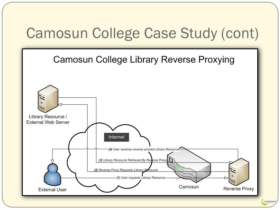Camosun College Case Study (cont)
