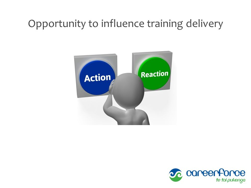 Opportunity to influence training delivery