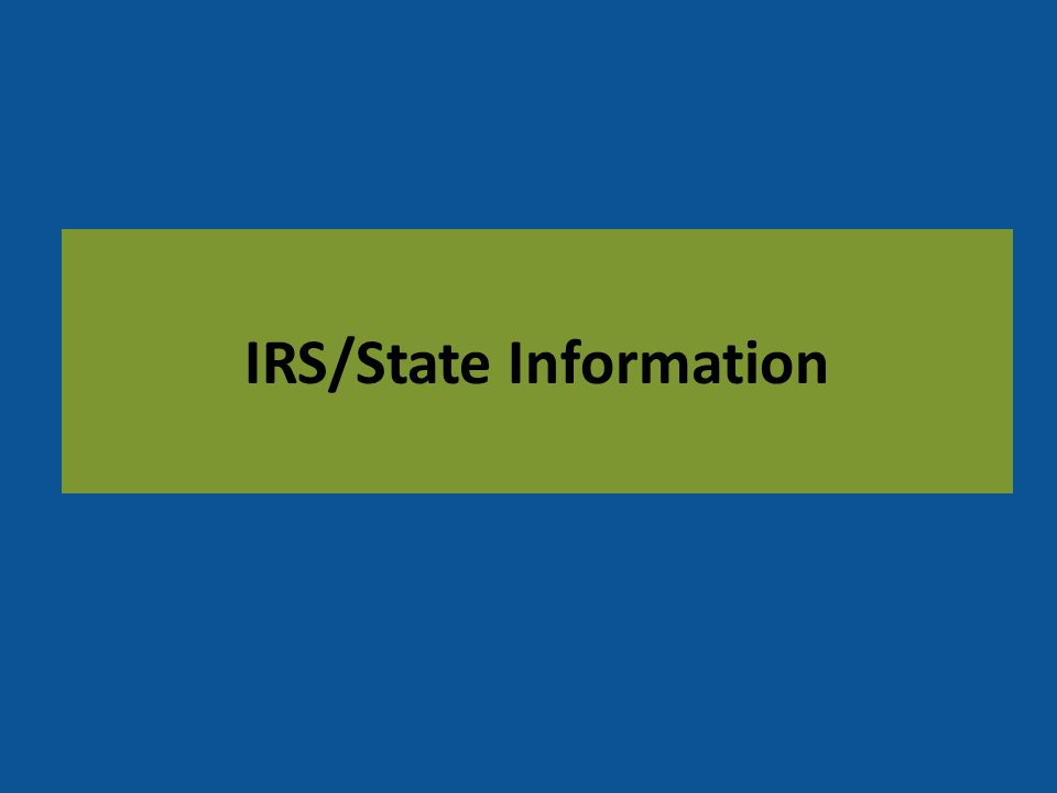 IRS/State Information