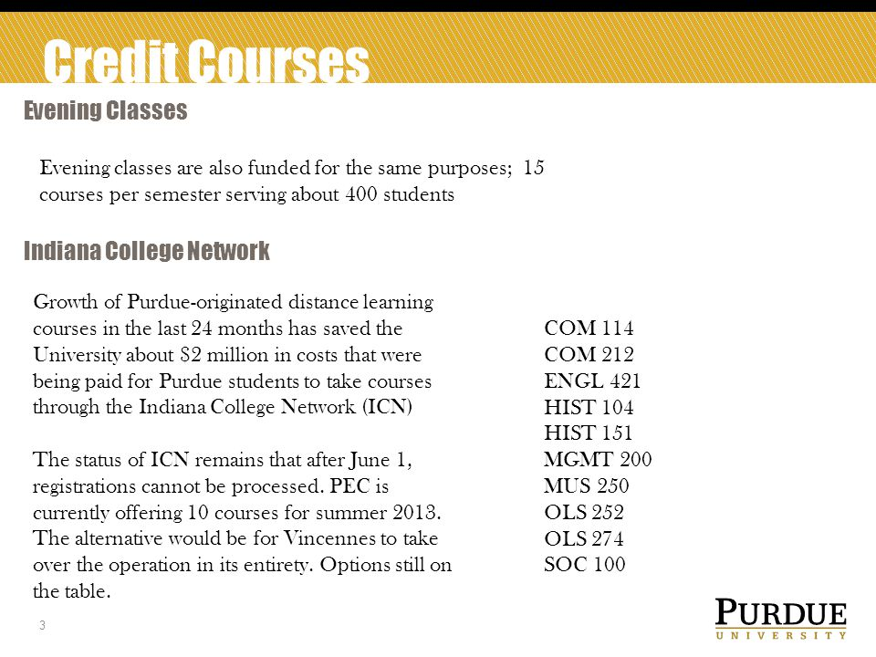 Credit Courses Purdue Express 4