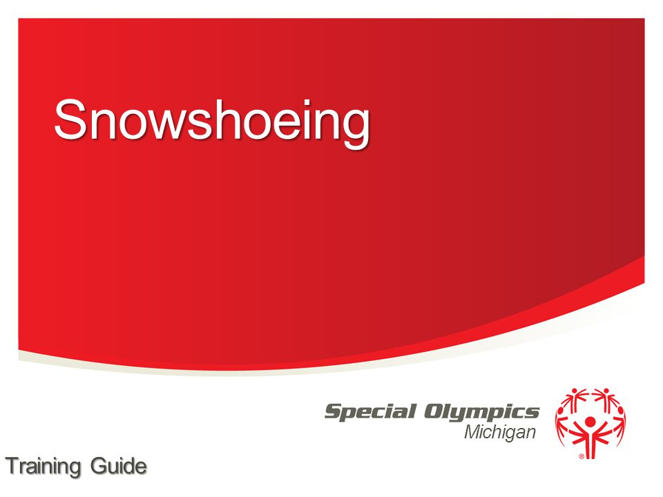 Michigan Snowshoeing Training Guide