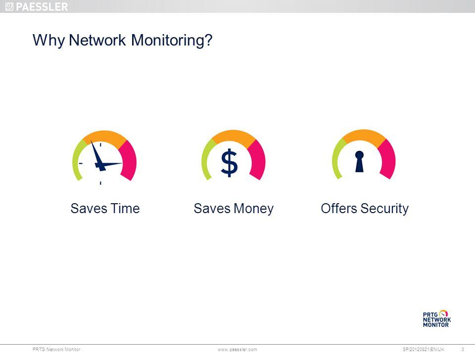 www.paessler.com PRTG Network Monitor www.paessler.com SP|20120821|EN|UK Why Network Monitoring.