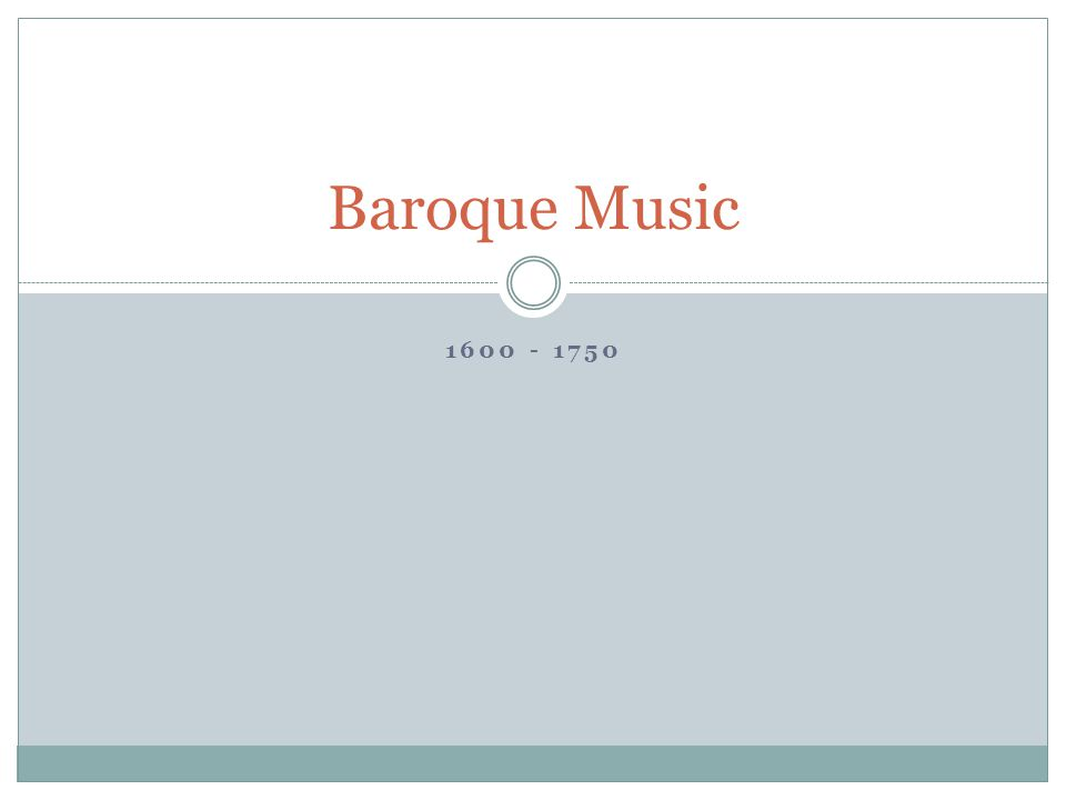 What is baroque.