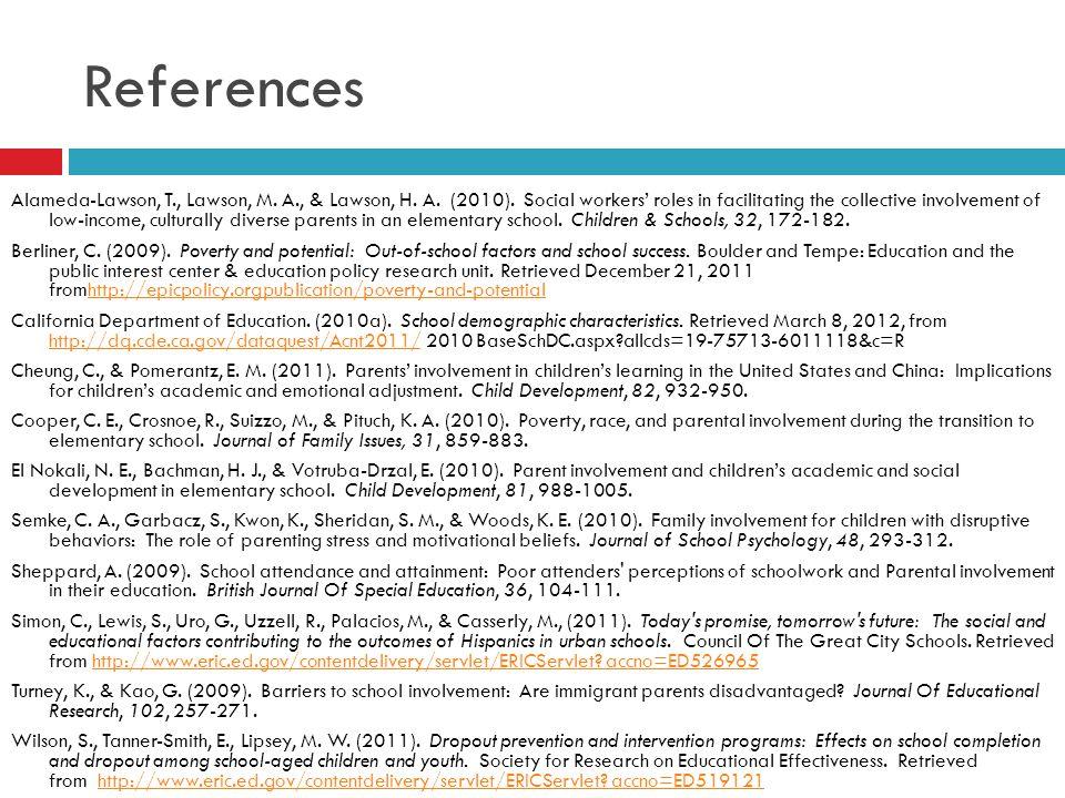 References Alameda-Lawson, T., Lawson, M. A., & Lawson, H.