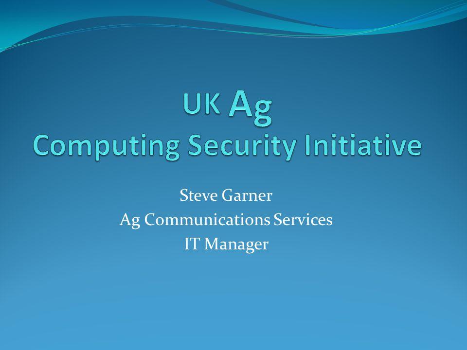 Steve Garner Ag Communications Services IT Manager
