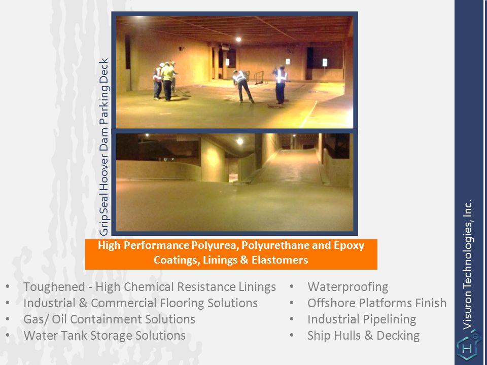 High Performance Polyurea, Polyurethane and Epoxy Coatings, Linings & Elastomers Visuron Technologies, Inc. Waterproofing Offshore Platforms Finish In