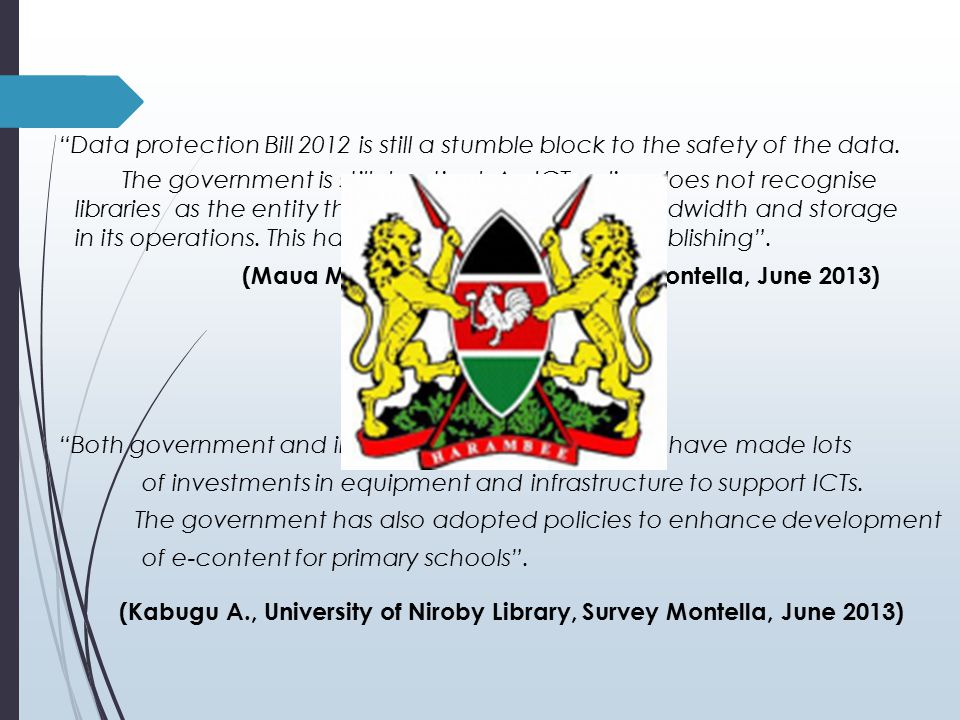 Data protection Bill 2012 is still a stumble block to the safety of the data.