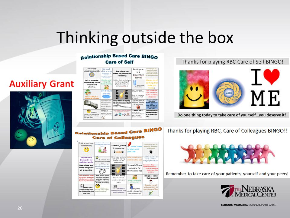 Thinking outside the box 26
