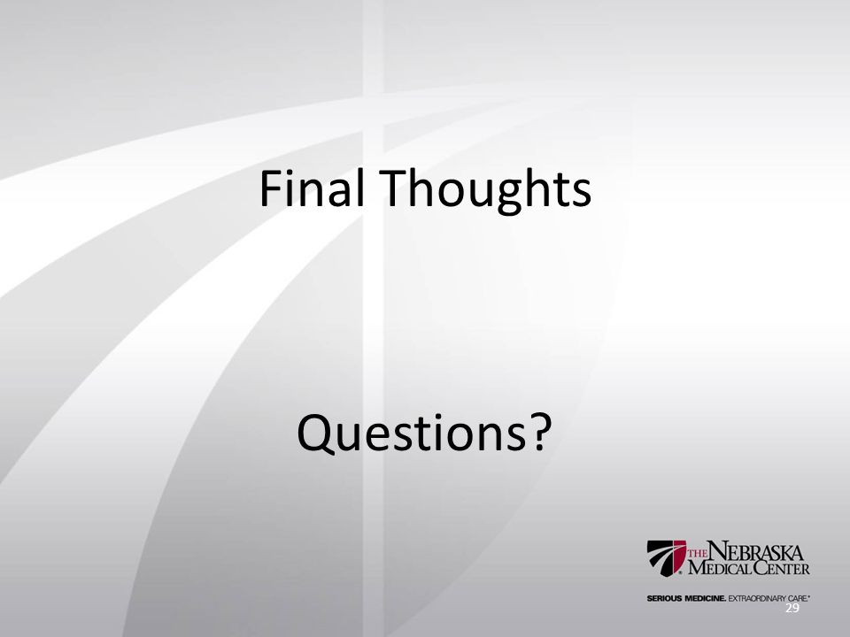 Final Thoughts Questions 29