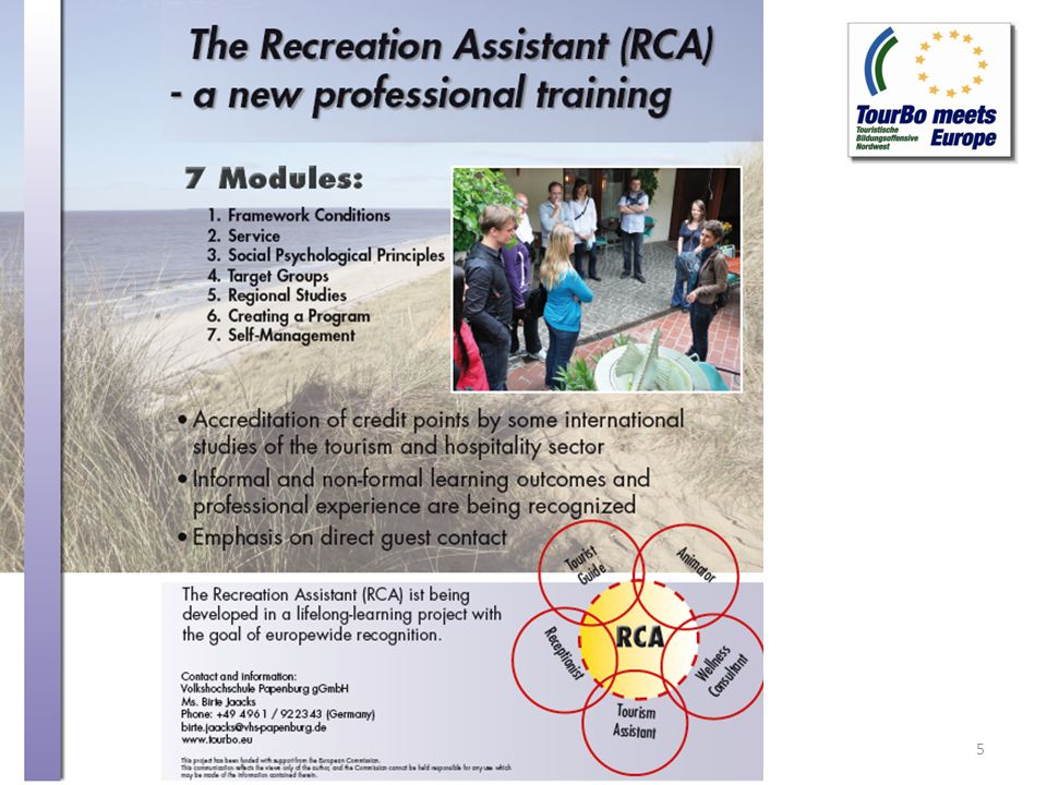 Modules of the RCA Qualification Program 6