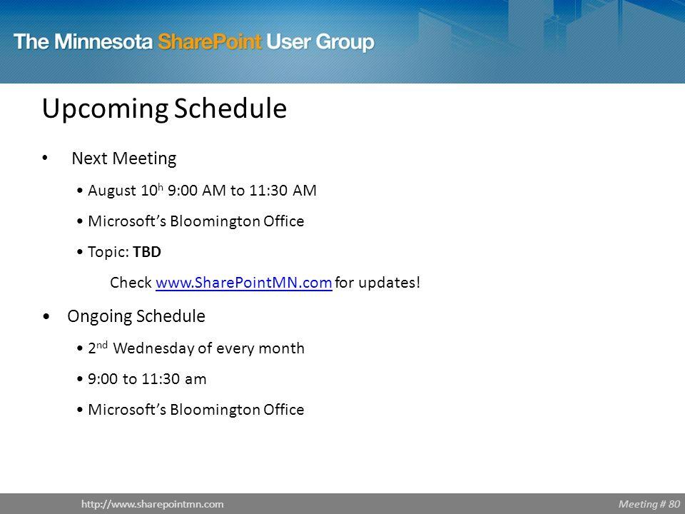 Meeting # 80http://www.sharepointmn.com Enhanced Integrations