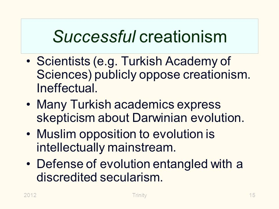 2012Trinity15 Successful creationism Scientists (e.g.