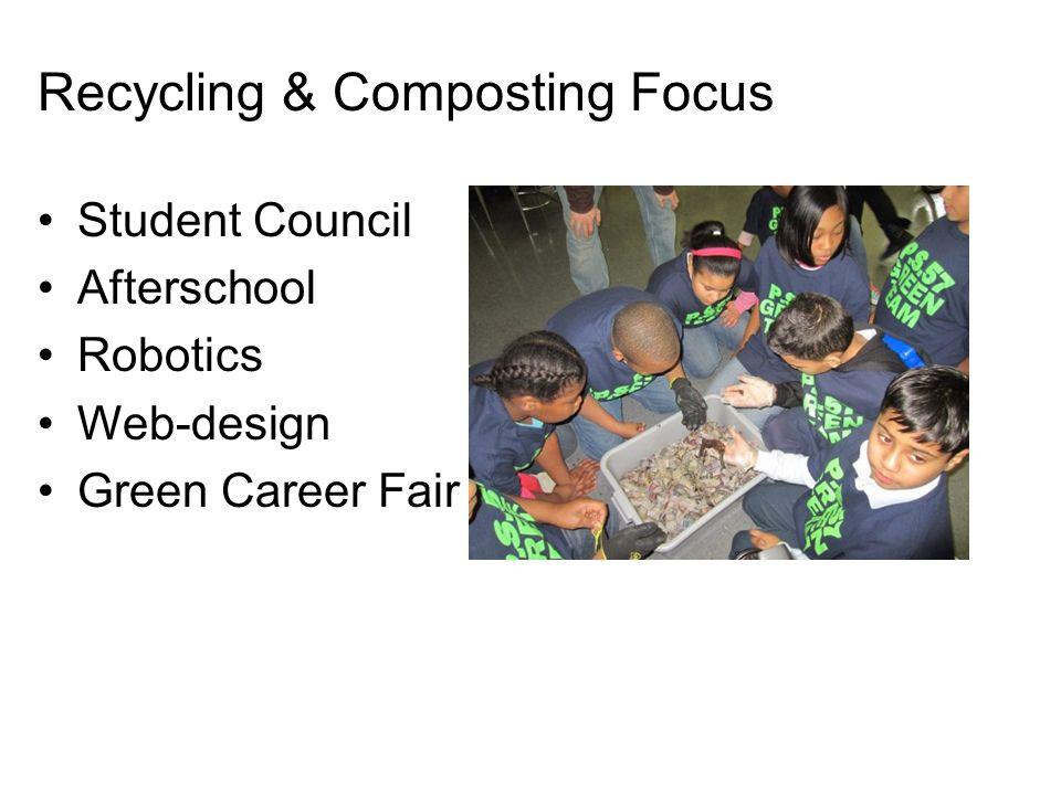 Recycling & Composting Focus Student Council Afterschool Robotics Web-design Green Career Fair