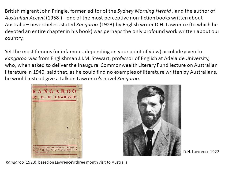British migrant John Pringle, former editor of the Sydney Morning Herald, and the author of Australian Accent (1958 ) - one of the most perceptive non