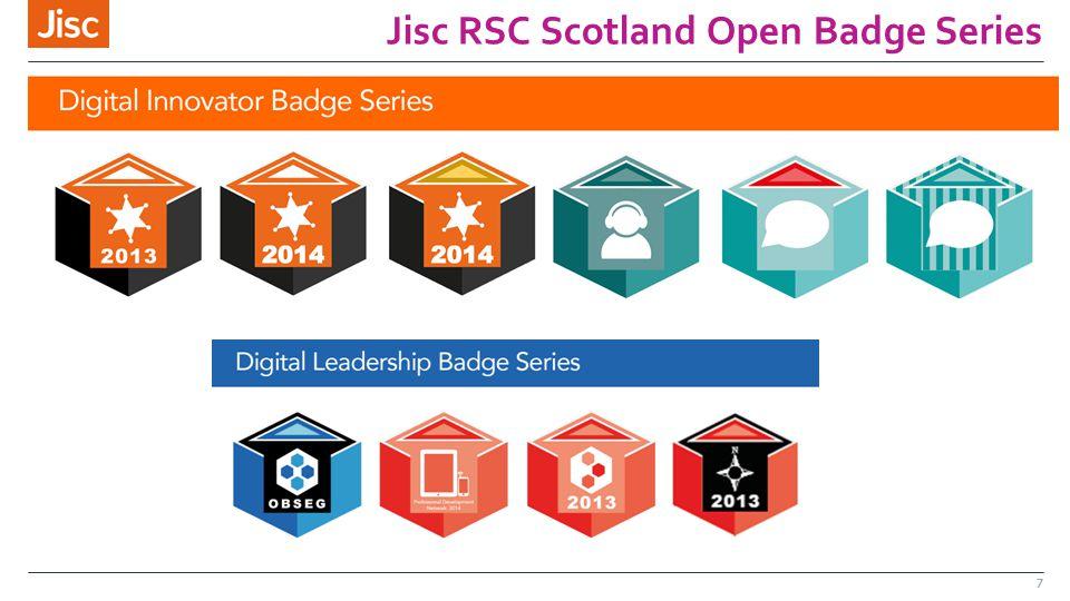 Jisc RSC Scotland Open Badge Series 7