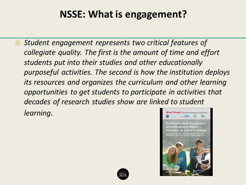 NSSE: What is engagement.