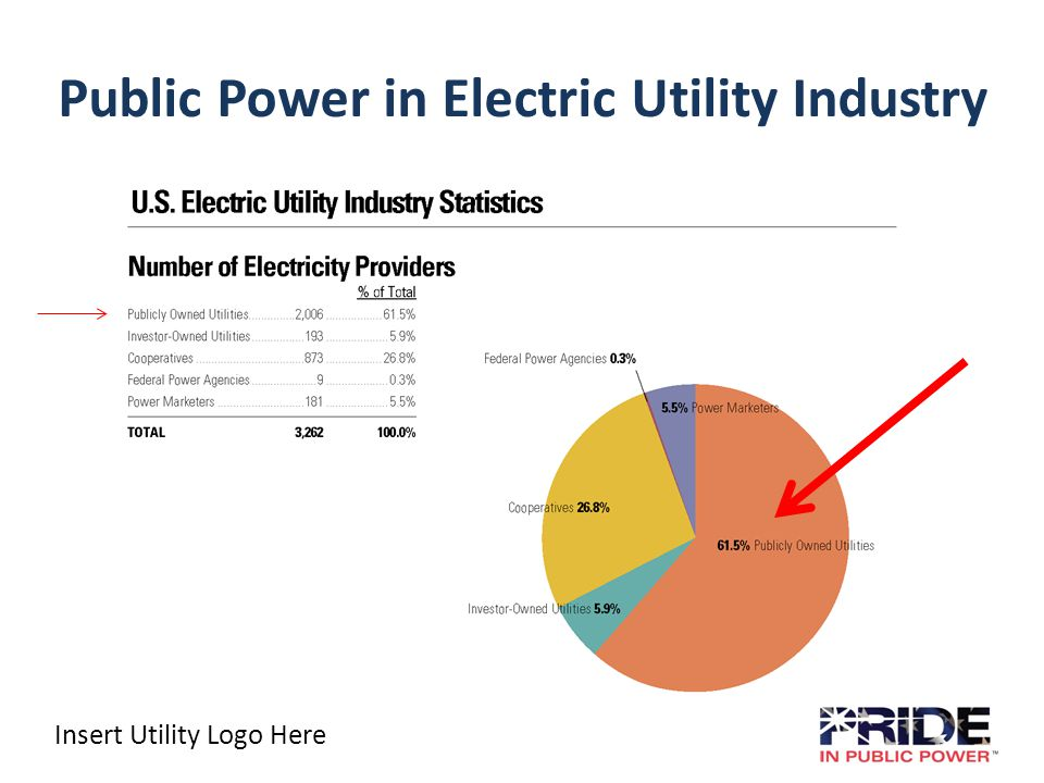 Insert Utility Logo Here Public Power in Electric Utility Industry