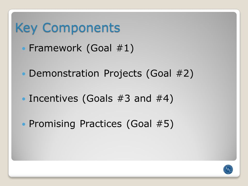 Framework [Goal #1] What is the Framework.