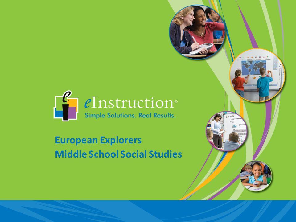 European Explorers Middle School Social Studies