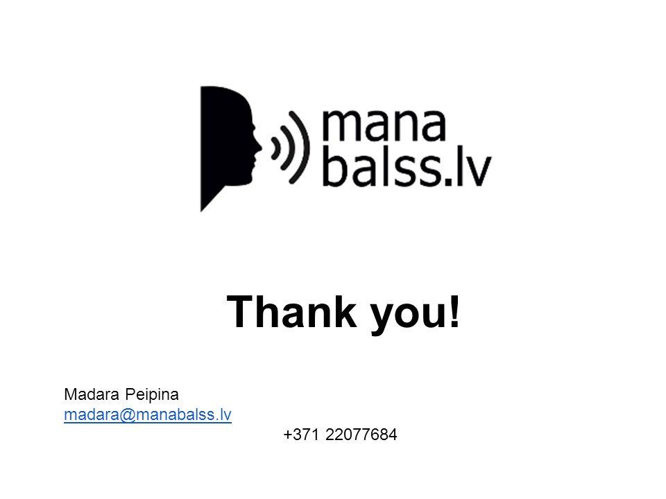 Thank you! Madara Peipina madara@manabalss.lv +371 22077684