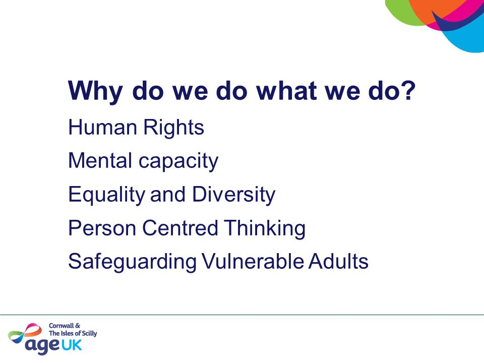 The Context Person Centred approaches Human Rights Mental Capacity ActEquality and Diversity